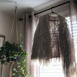 Free people shaggy sweater!